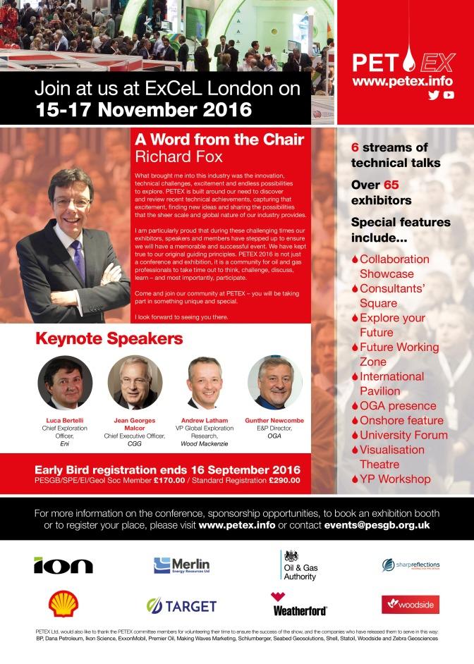 PETEX 2016– Meet the Petroleum Geoscience Collaboration Showcase (PGCS)keynote speakers!